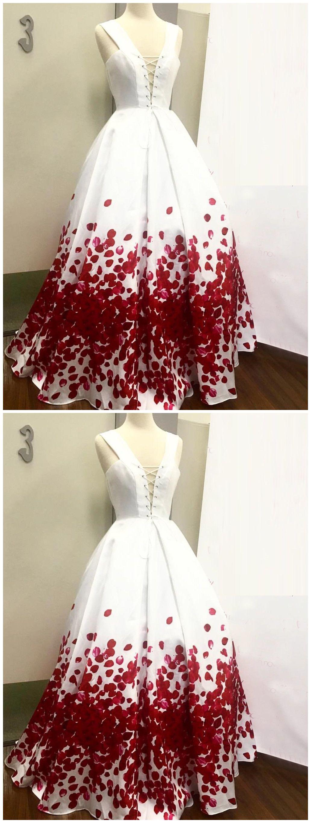 Aline straps long prom dress white simple cheap modest long prom