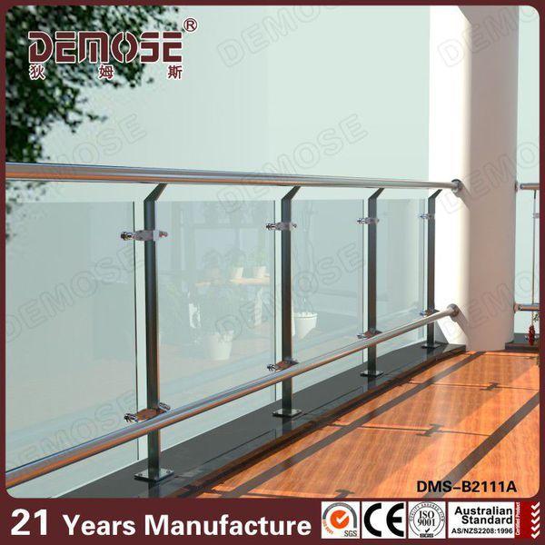 Modern Colorless Glass Balcony Railings Glass Railing Glass