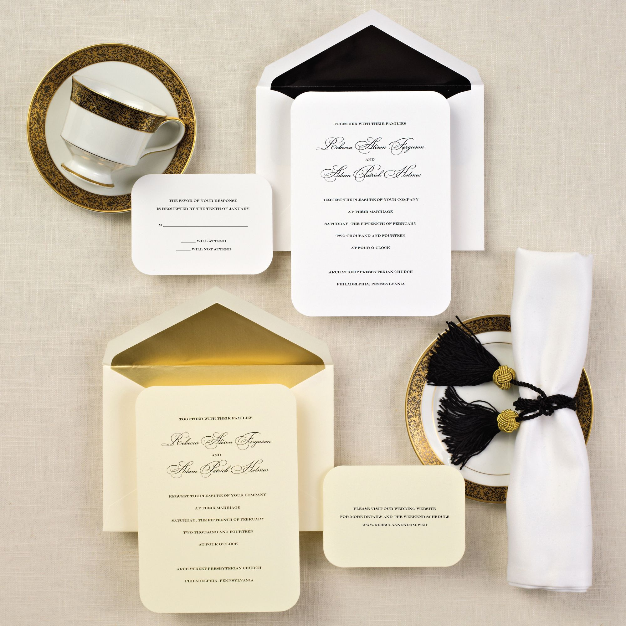 Simple Elegance Wedding Invitation | Discover best ideas about ...