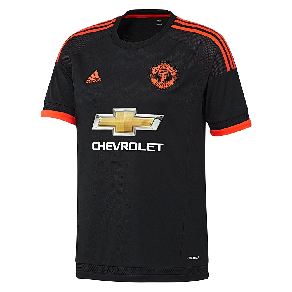 Adidas Manchester United Youth Third 15 16 Soccer Jersey Black Solar Red Ac1448 Manchester United Manchester United Youth Manchester United Football Club