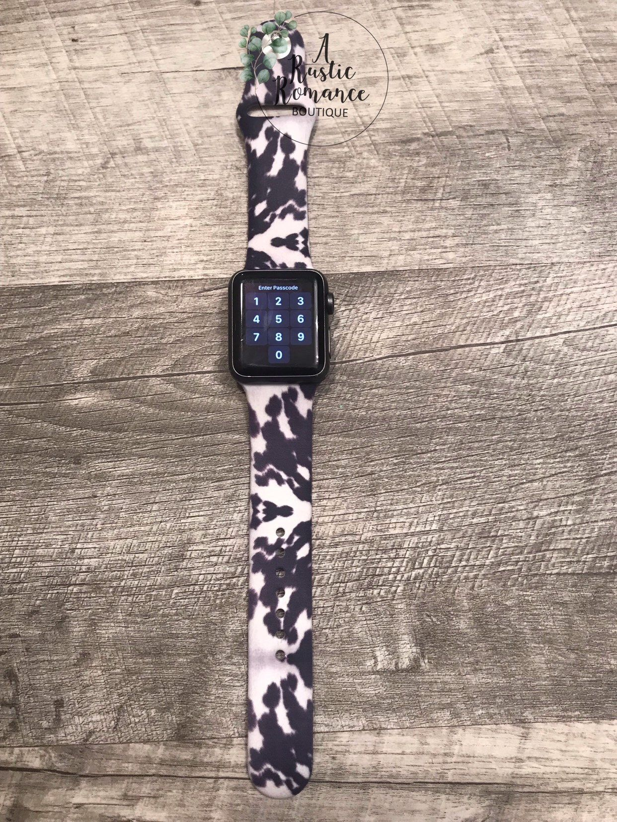 Apple Watch Band Cowhide Print 38mm 42mm Gift For Mom Cow Print