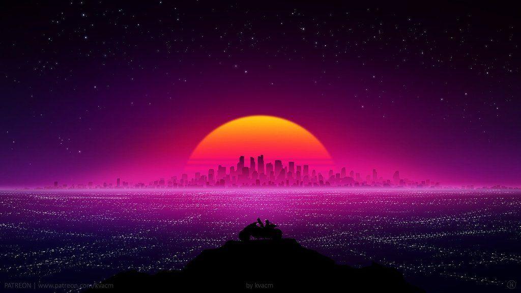 Showtime By Michal Kvac Imaginarycityscapes Cyberpunk Sci Fi Wallpaper Retro Futurism Vaporwave Wallpaper