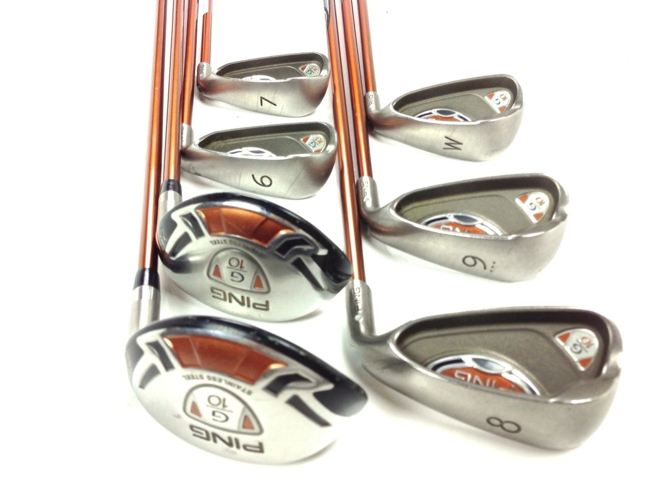 Ping G10 Combo Iron Set 4h 5h 6 Pw 7pc Silver Dot Regular Graphite Golf Clubs 239 99 Nice G10 Combo Irons Faces Have Scratches Ironing Set Golf Clubs Golf
