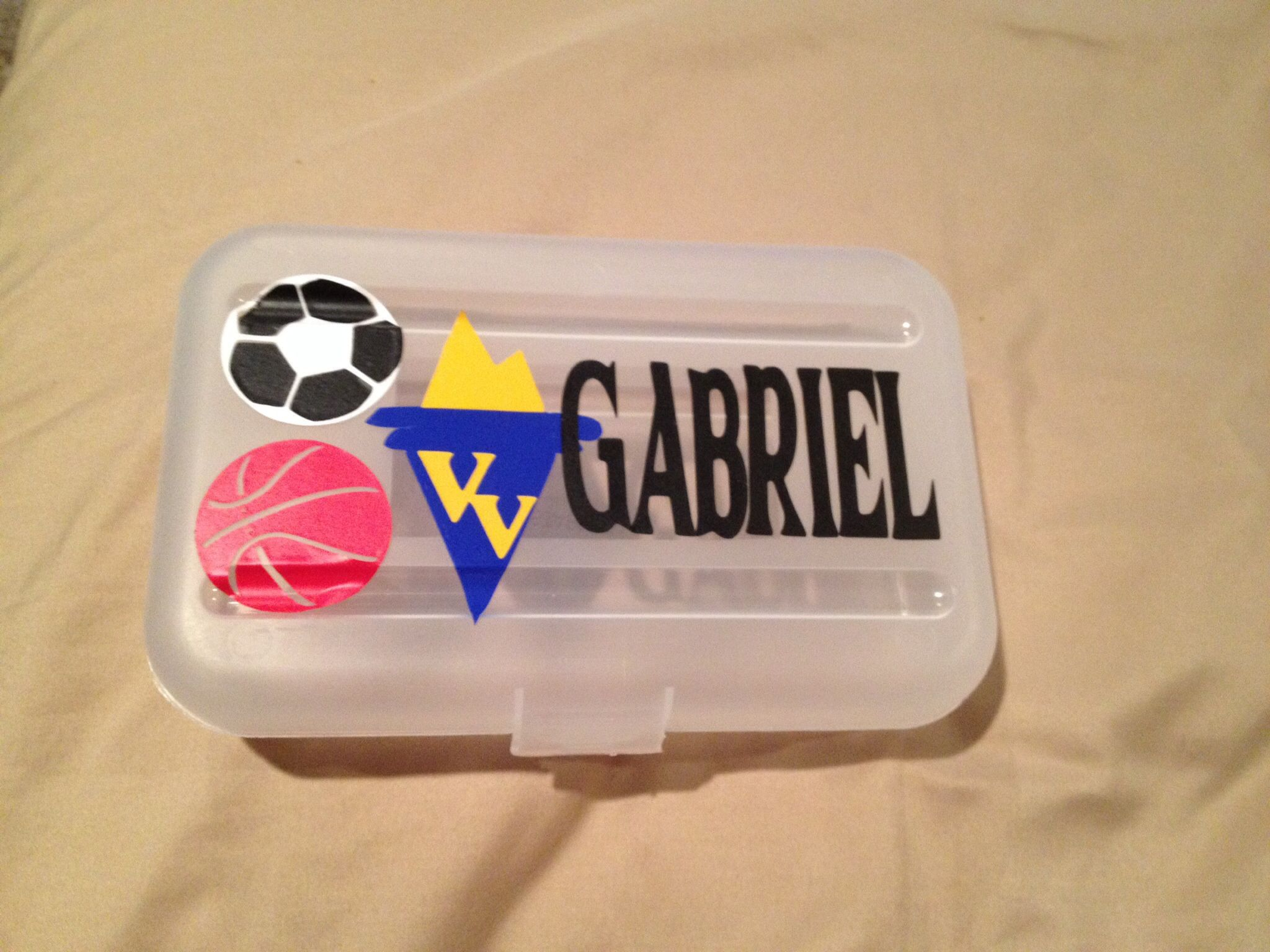 Sports pencil box