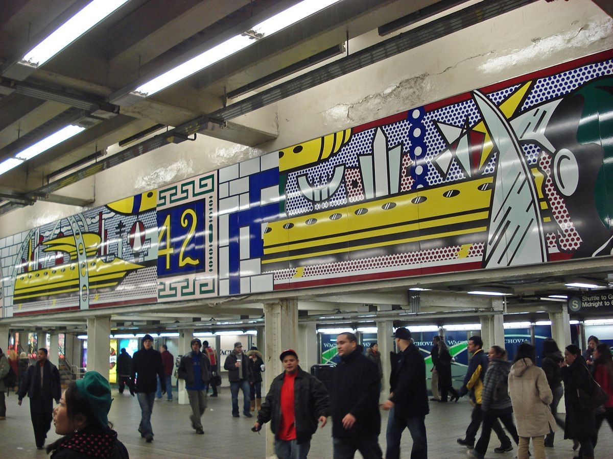 Times Square subway art