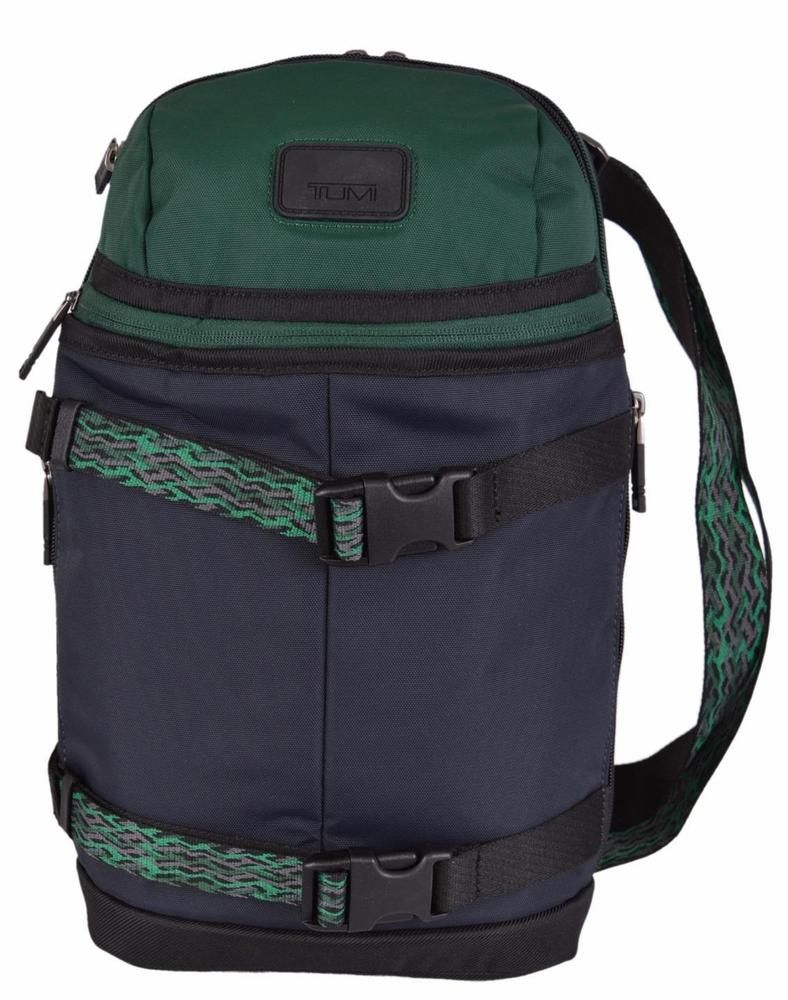 bd7ea18f082a1e New Tumi 55918 Men's Green Blue Colorblock Abbott Backpack Travel Sling Bag…
