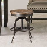 Found it at Wayfair - Great Rooms Swivel Factory Stool in Distressed Hickory Stick