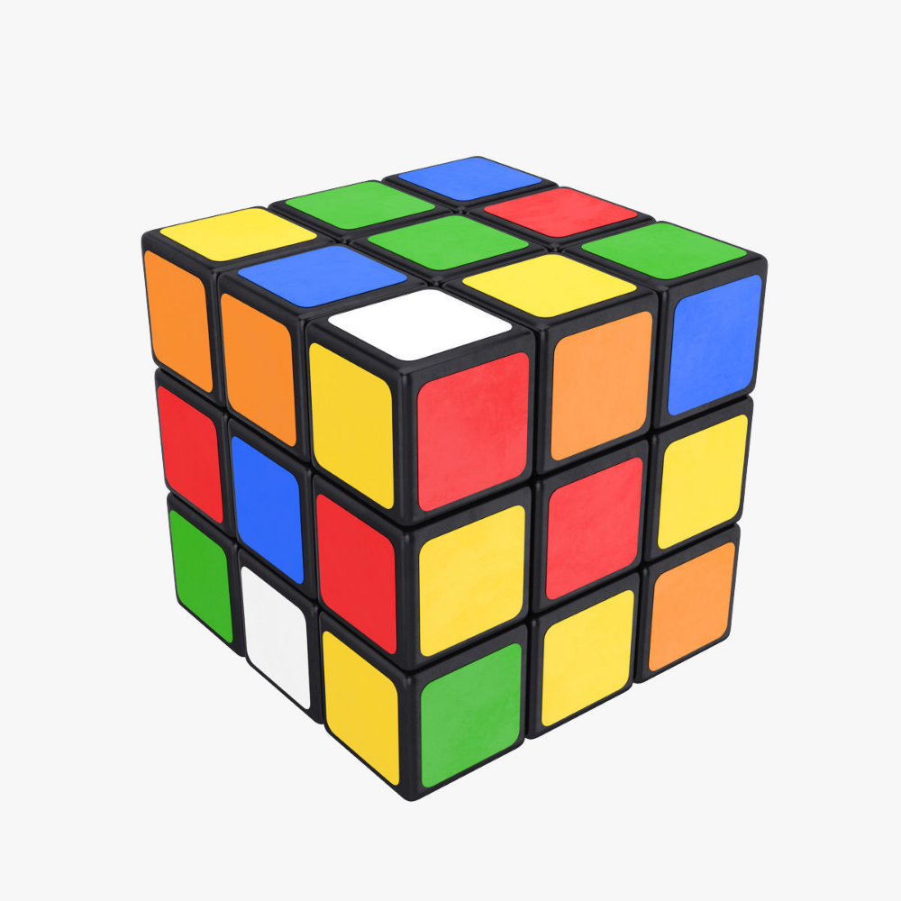 Rubiks Cube 3d Model In 2020 Rubiks Cube Cube Vintage Toys