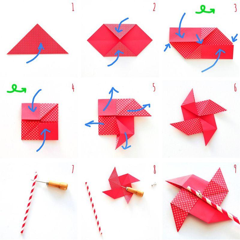 Top Süßes Origami Windrad - schnell und einfach selbermachen | Origami TS62