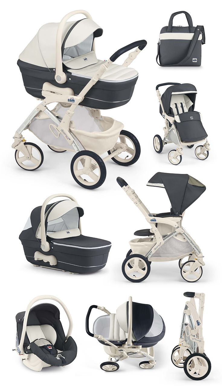Cam Kinderwagen Dinamico UP dark blue-creme by CAMSPA Italy für Baby ...