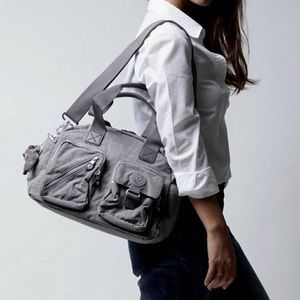 c05fd17b4 Kipling Defea Gray Crossbody Bag Nylon Satchel | Kiplings | Grey ...
