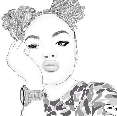 Imagen De Outline Girl And Art Bad Girl Portrait Au