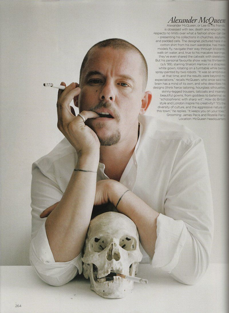 Alexander Mcqueen, in my opinion, was one of the most influential designers. He's inspired me in many different ways such as: the fact that he achieved excellence even though he was a High School drop-out, he pursued his dreams as a fashion designer, and he stayed true to his identity as fashion designer. Because of those reasons I definitely think he's left his thumbprint in the fashion industry. if he was still alive he's someone I would have liked to meet.