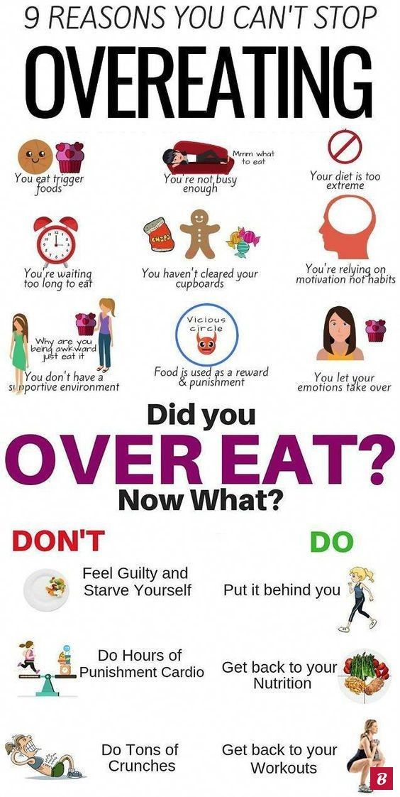 9 Effective Ways to Stop Overeating. elf-control is a struggle for many people, especially when it c...