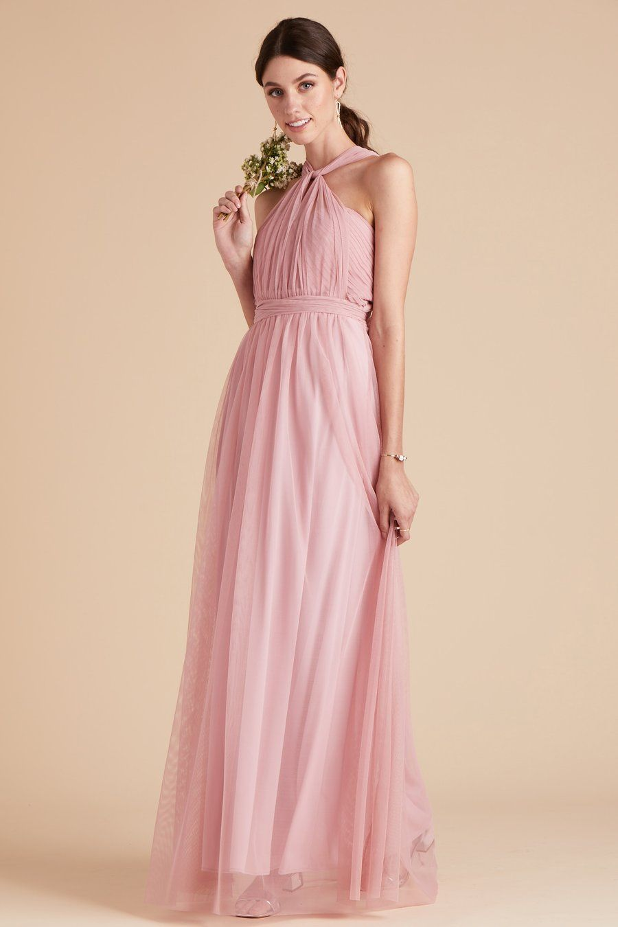 91aae418615 Christina Convertible Tulle Bridesmaid Dress in Dusty Rose