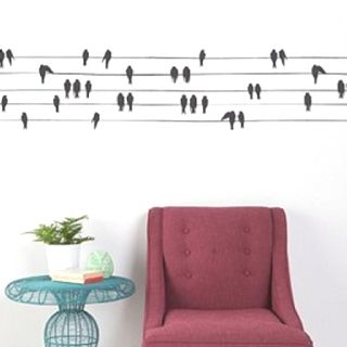 I want to do the birds on a wire thing to my room