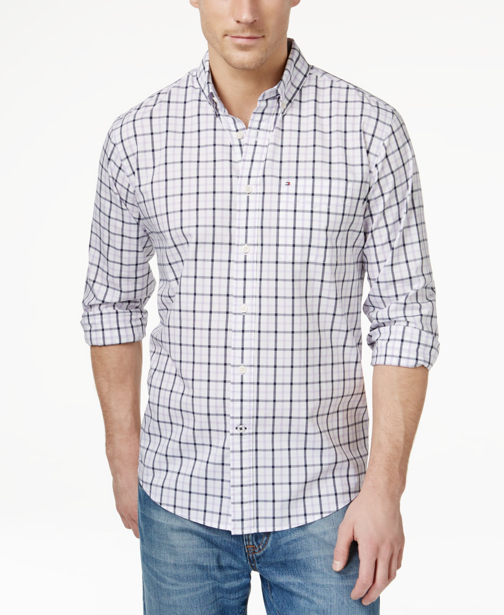 Flannel shirt trend  Tommy Hilfiger Baldwin Tattersall Plaid LongSleeve Shirt  Products