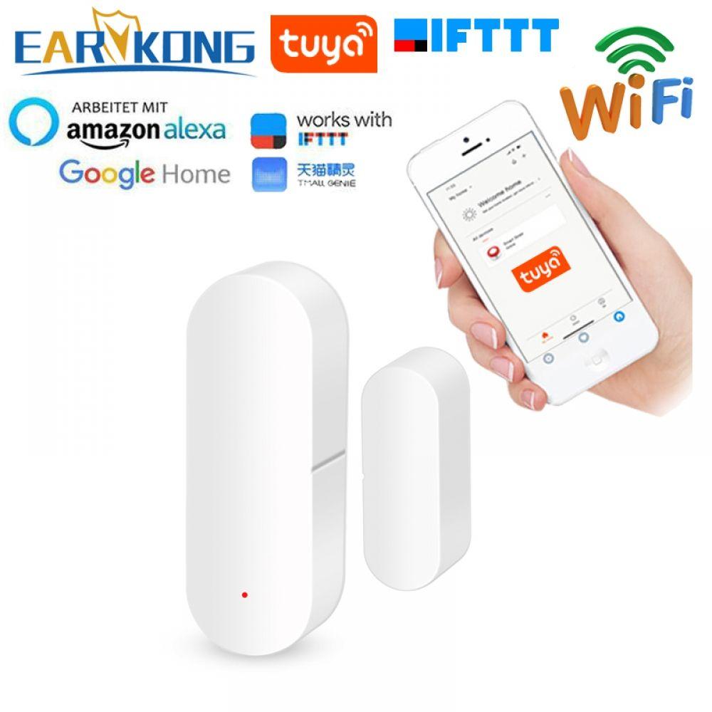 Tuya Smart Wifi Door Sensor Door Open Closed Detectors Compatible With Alexa Google Home Ifttt Tuya App Microflow Smart Wifi Wifi Detector