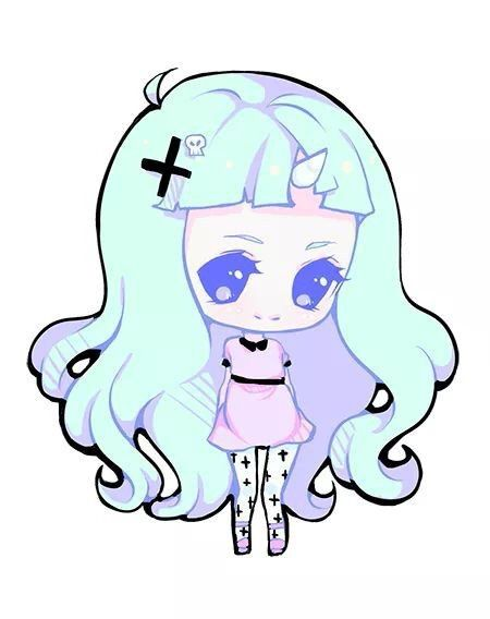 Image via We Heart It https://weheartit.com/entry/145371705 #anime #art #chibi #creepycute #cute #draw #girl #kawaii #manga #pastel #unicorn #pastelgoth