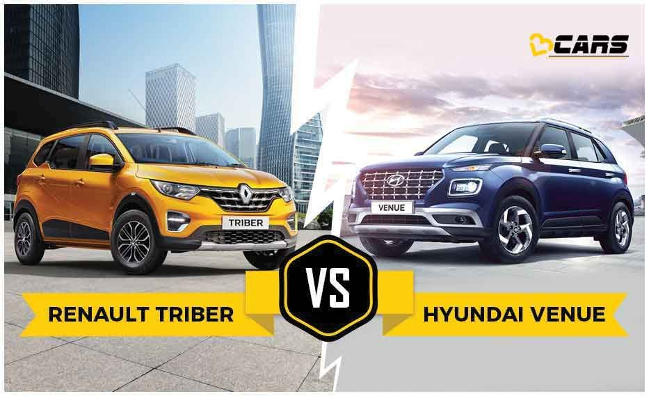 Renault Triber Rxz Vs Hyundai Venue S Price Specs Features Renault Hyundai Infotainment System
