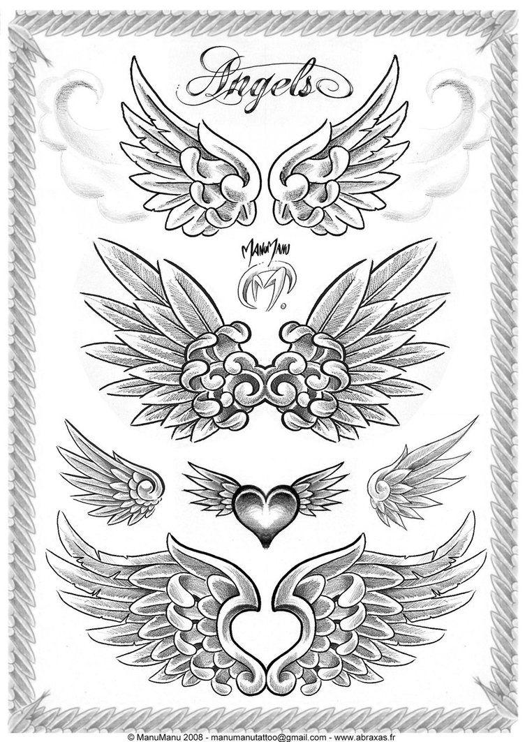 Angel Wings Tattoos Angel Wings Tattoo Wings Drawing