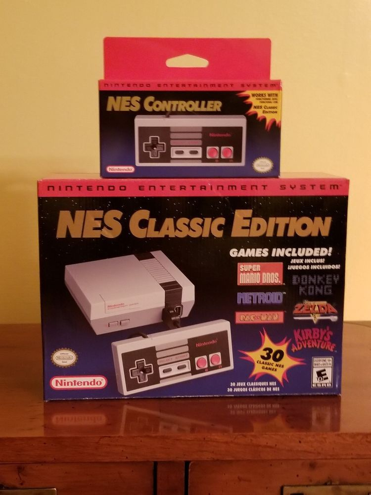 Authentic Nintendo Classic Edition Nes Mini System Usa Brand New In
