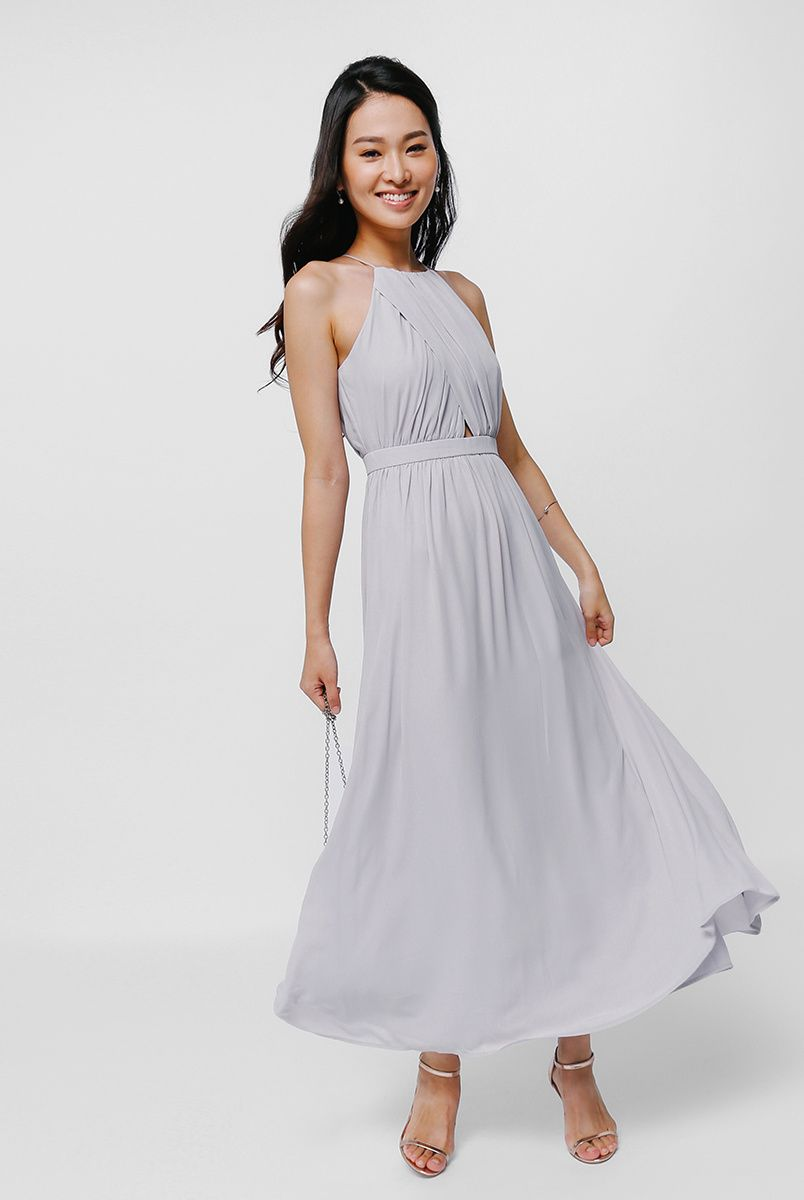 b7ad816133 Emelda Cross Front Maxi Dress