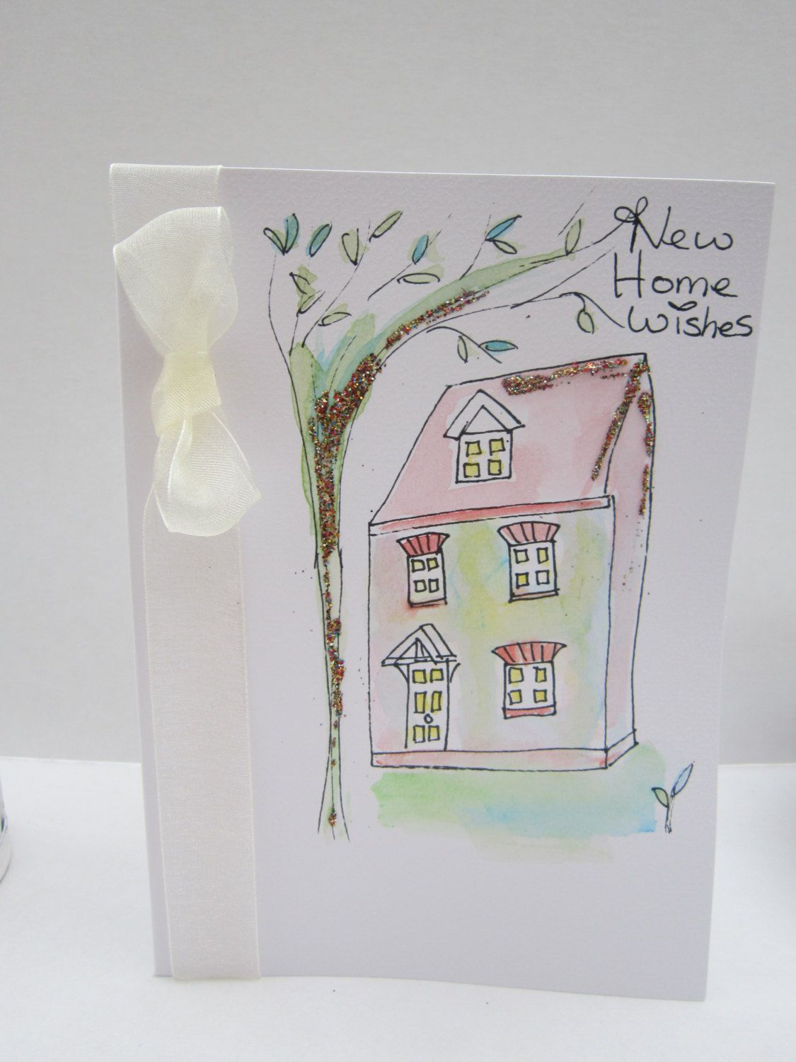 New Home Card New House Card Moving House Card Watercolour Card