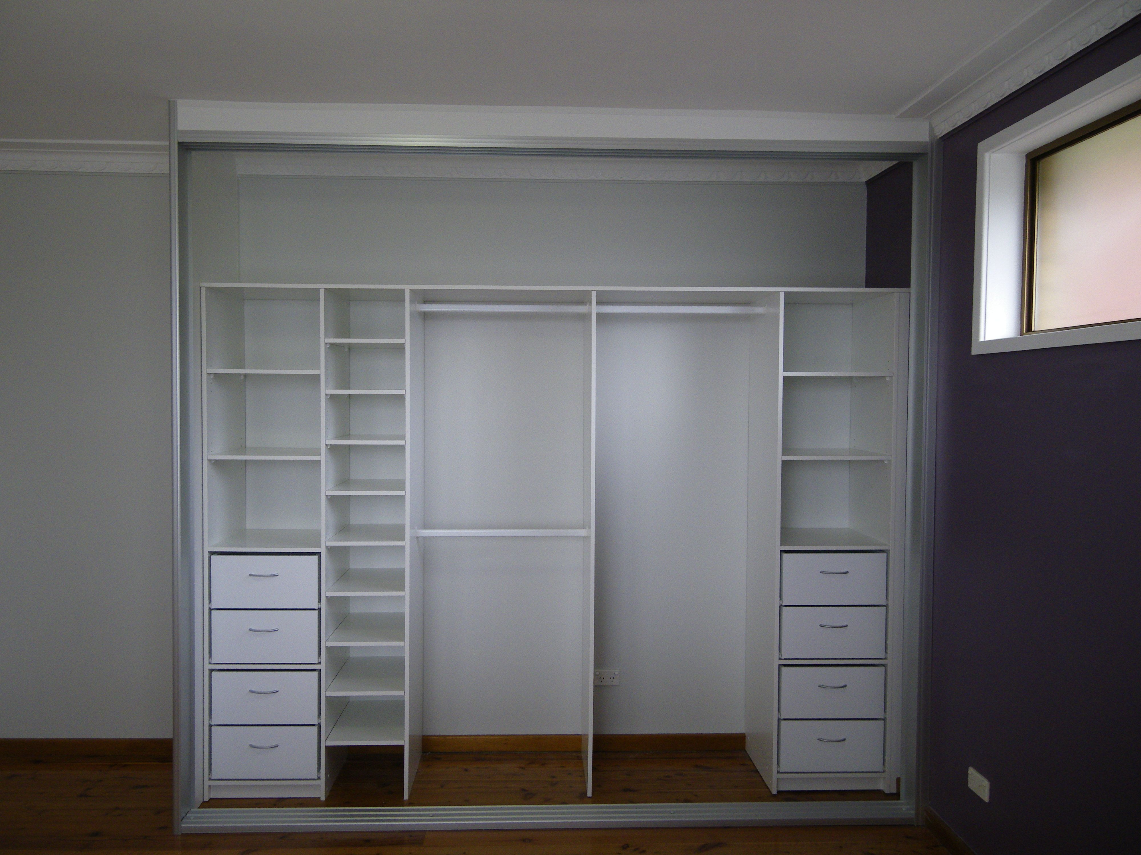 Brilliant White Small Closet Furnishing Ideas With Opened ...