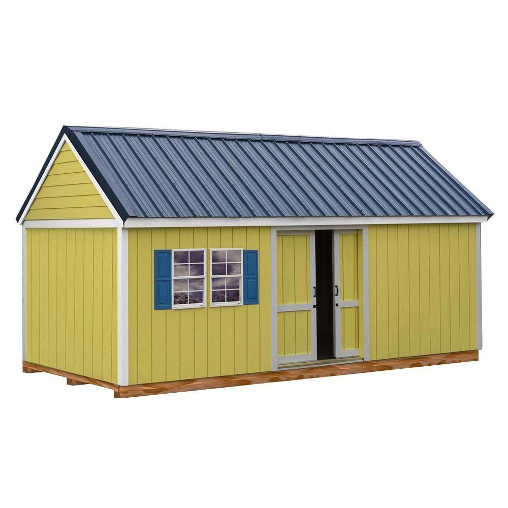 Brookhaven 10 Ft X 20 Ft Storage Shed Kit With Floor Including 4 X 4 Runners Clear Buildingagardenshed Storage Shed Kits Shed Kits Build A Shed Kit