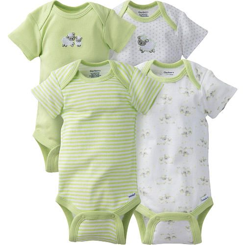 Gerber onesies® brand one-piece underwear is, an essential in baby's wardrobe, great to use as a layering piece under your favorite outfits to keep baby's tummy extra warm, made of 100-percent cotton for comfort and softness, have a lap shoulder neckline for ease of dressing, hems are double stitched to keep smooth after excessive washings and a snap closure conveniently positioned for ease of changing baby's diaper. Great for gift giving.<br><ul><li>100 percent cotton for comfort and so...