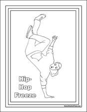 hip hop coloring page coloring pages