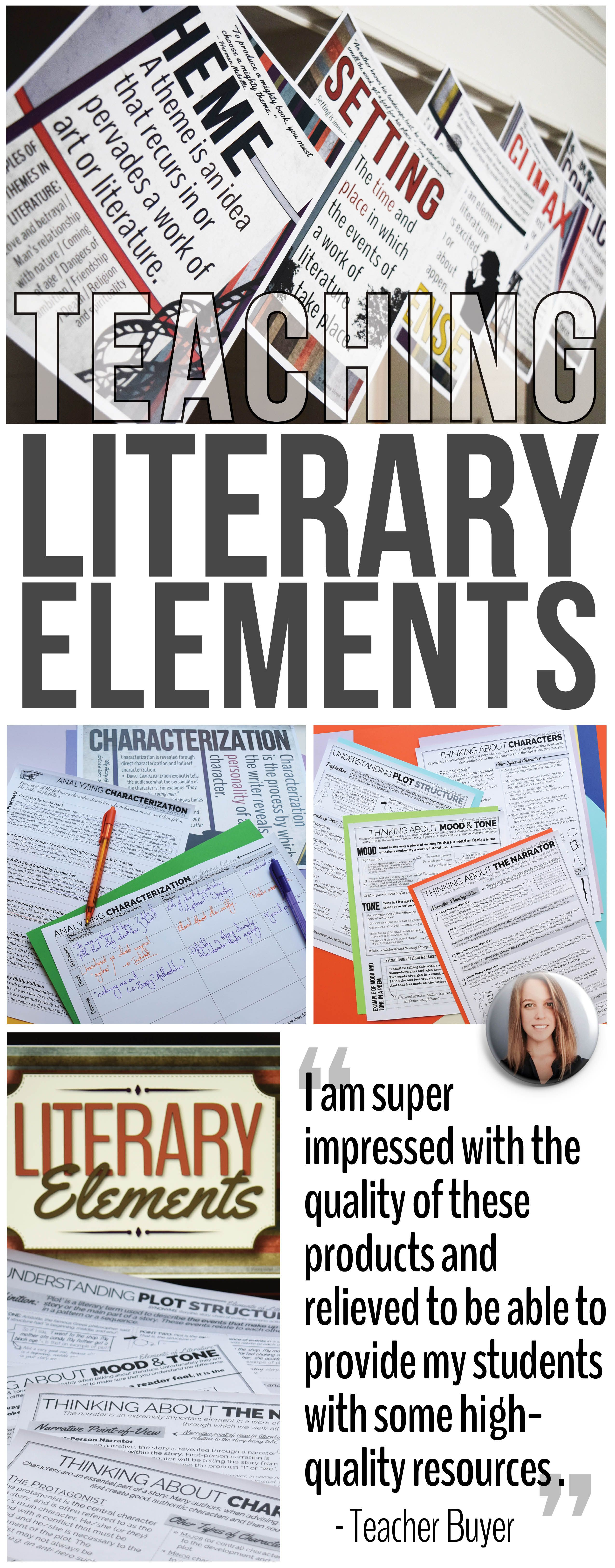 Literary Elements Bundle To Use With Any Novel Or To