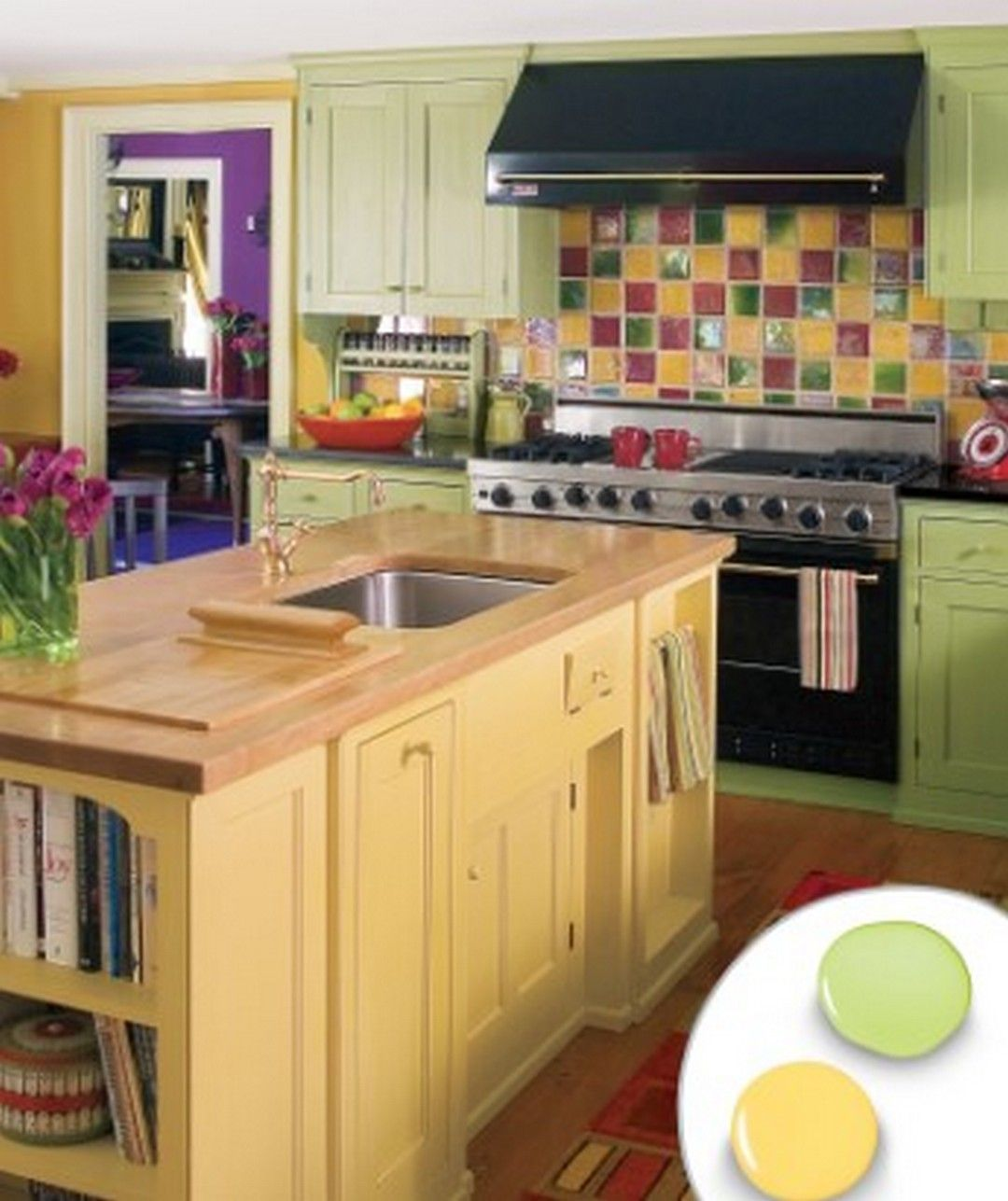 5 Decorating Your Kitchen Ideas With FullColor Wall