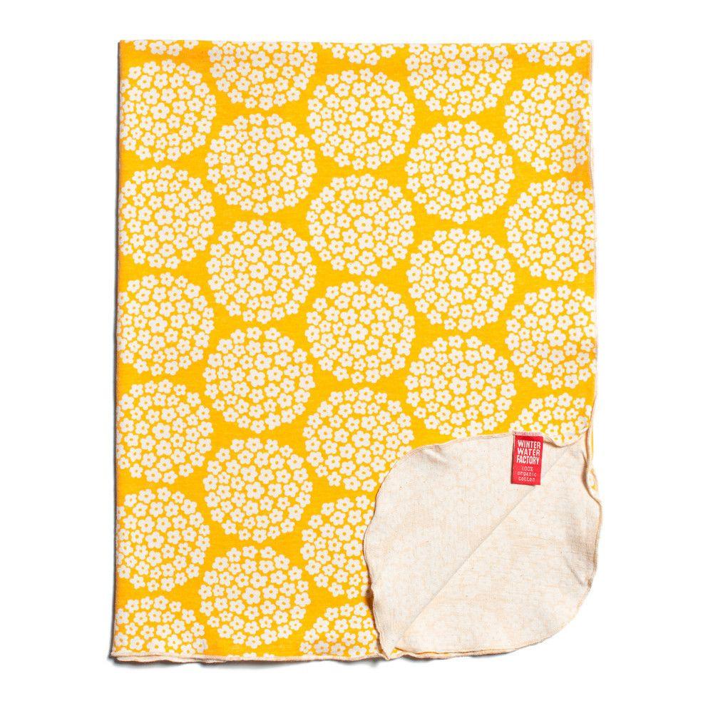 Lightweight Blanket - Flower Dots Yellow