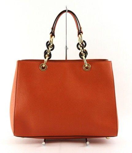 effdf3c152bb Michael Kors Tangerine Saffiano Leather Cynthia Medium Satchel Bag ...