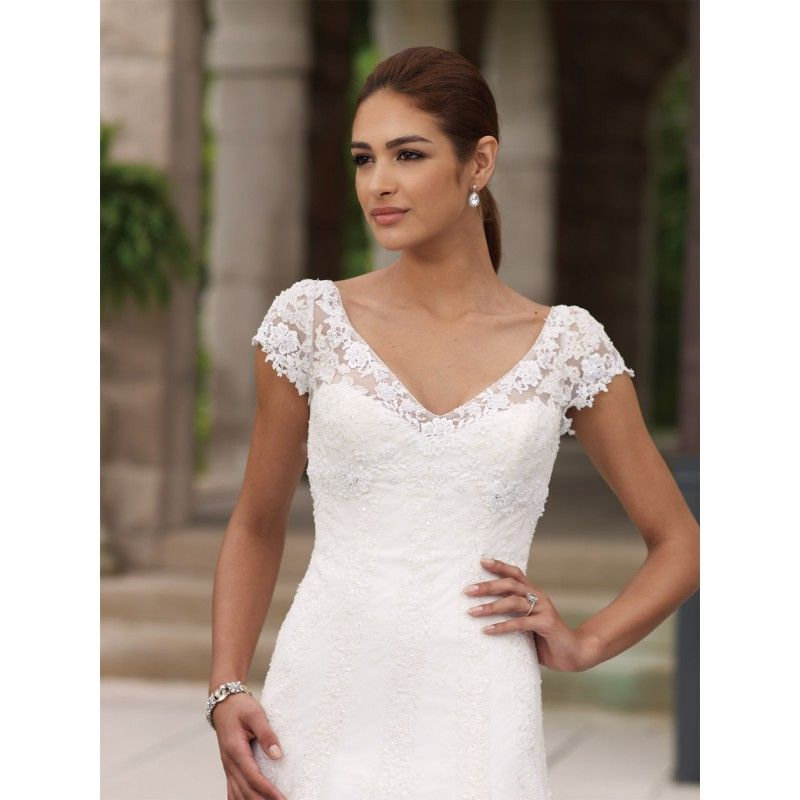 Wedding Dresses With Cap Sleeves | Weddingdress | Pinterest | Lace ...