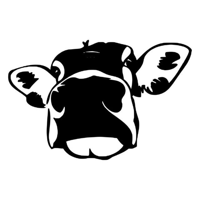 32+ Black and white cow face clipart information