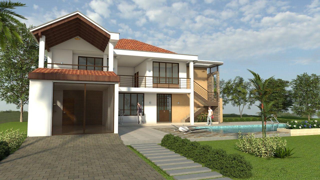 Planos de casas dise o campestre moderno de dos pisos for Planos de casas campestres gratis