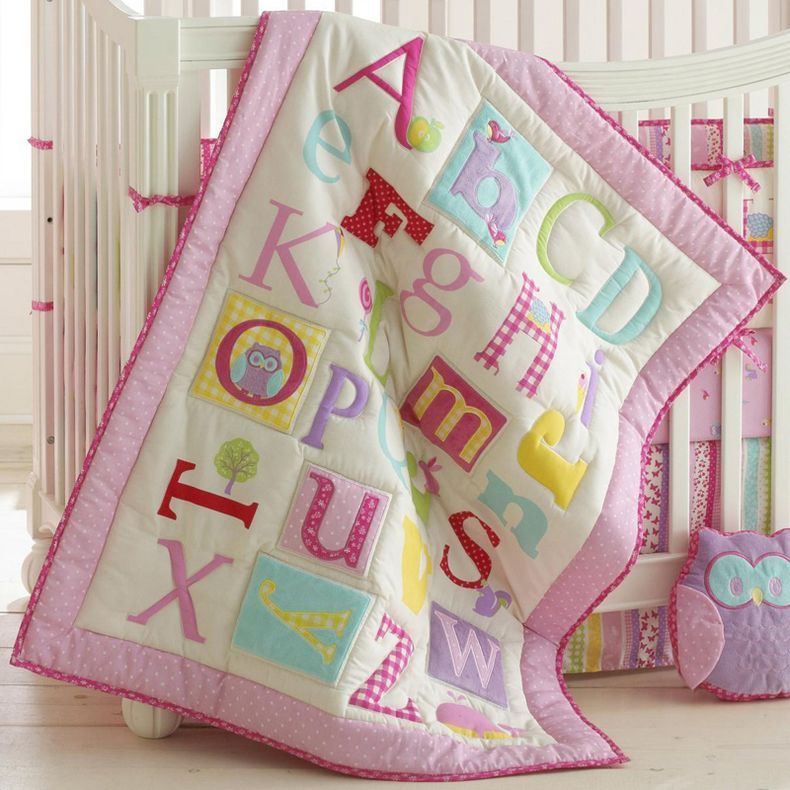 Jcpenney Laura Ashley Pink Owlphabet 4 Pc Baby Bedding