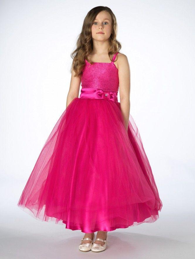 Girls hot pink party dress -Sienna