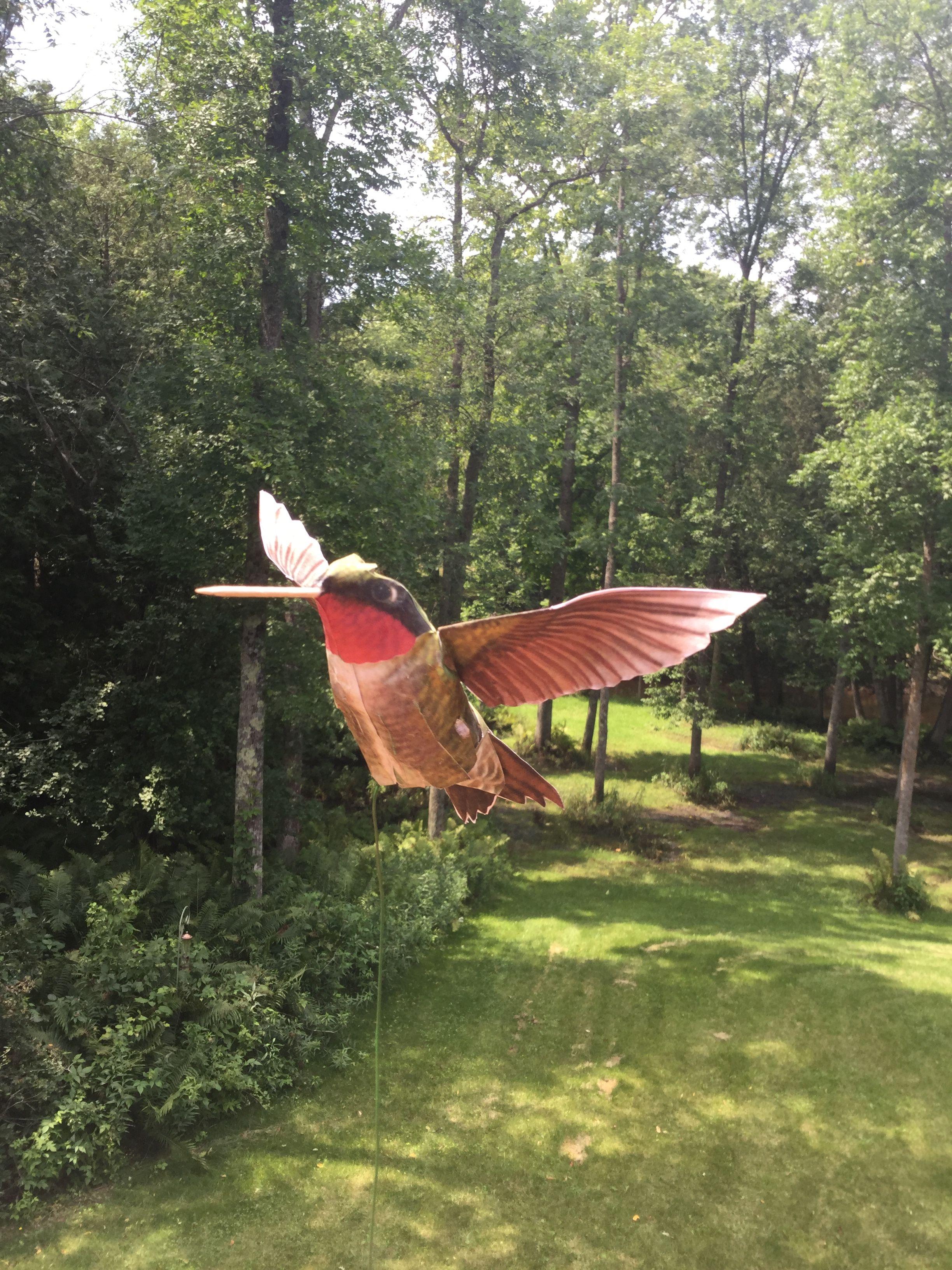 Hand Crafted Paper Hummingbird Template From Johan Scherft