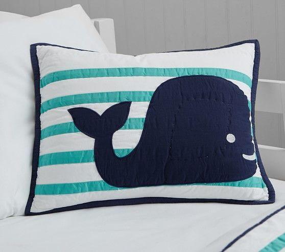 hamptons whale nursery bedding | boys nursery ideas | pinterest