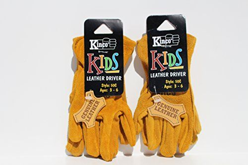 Kinco 50 C Work Gloves For Kids Pack Of 2 Ages 2 4 100 Real Cowhide Suede Leather Perfect Hand Protection Gardening G Work Gloves Packing Kids Gloves