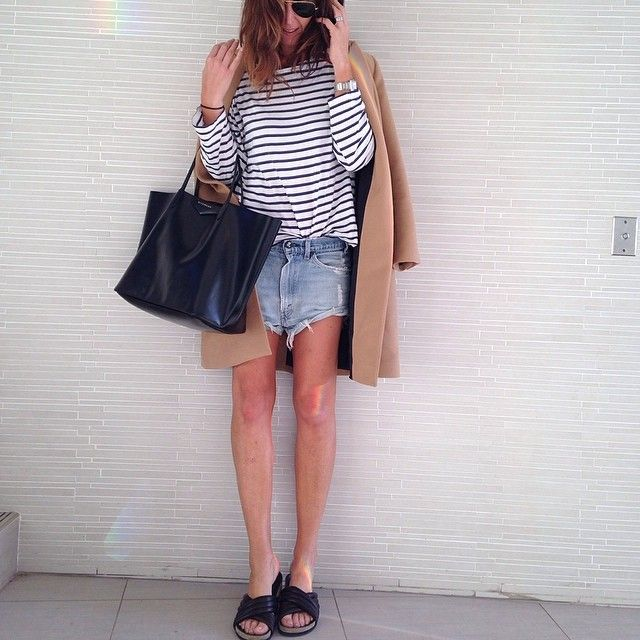 Flip flops #isabelmarant #denimshorts #stripes #givenchy by tashsefton