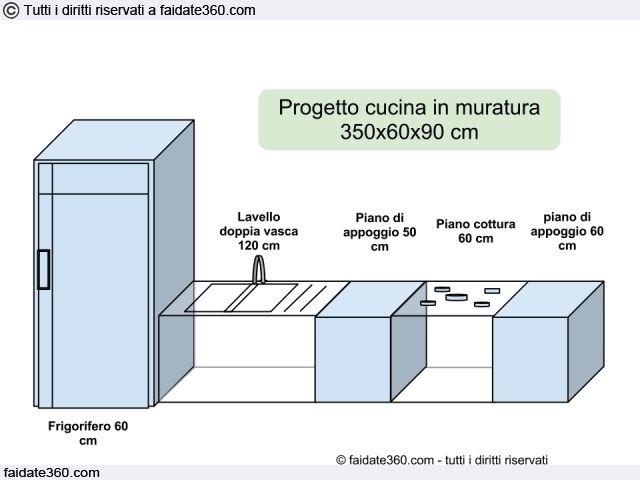Progetto cucina in muratura | Casa Cattarossi Vitale | Pinterest ...