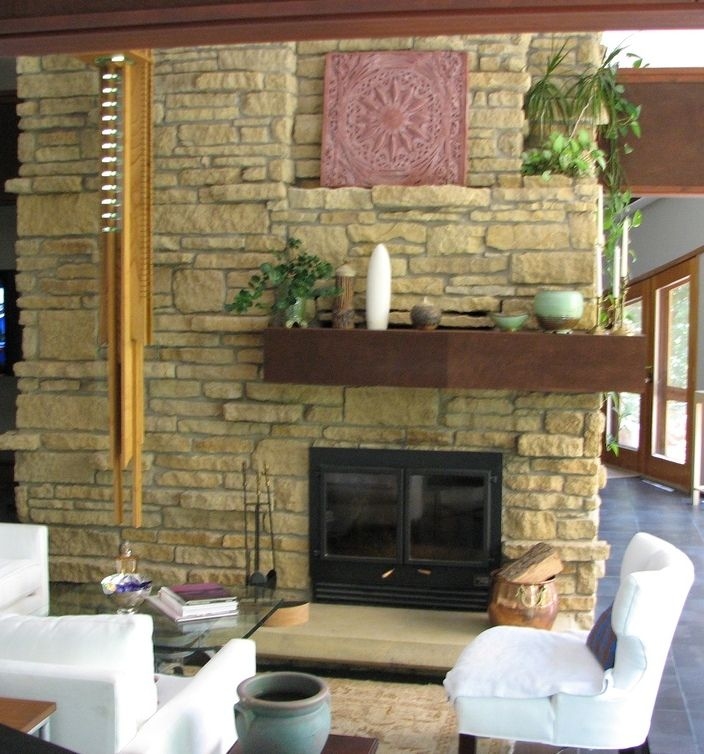 How To Tear Out A Brick Fireplace Face Fireplace Facing Rustic Cottage Fireplace