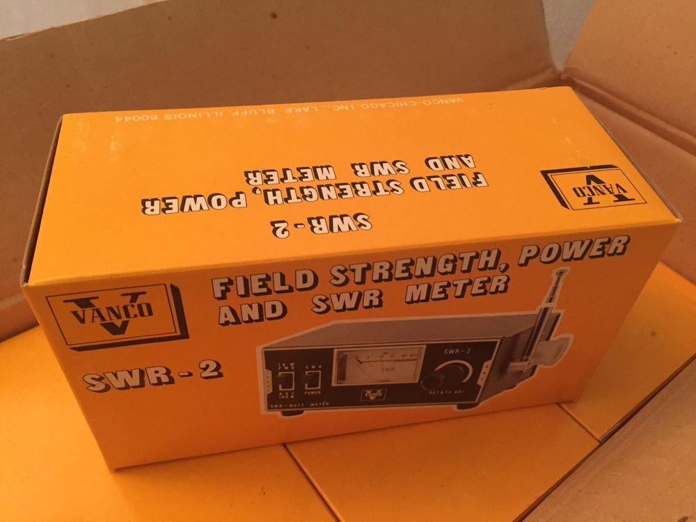 Vintage Vanco Swr 2 Meter Field Strength Power Swr Cb Radio