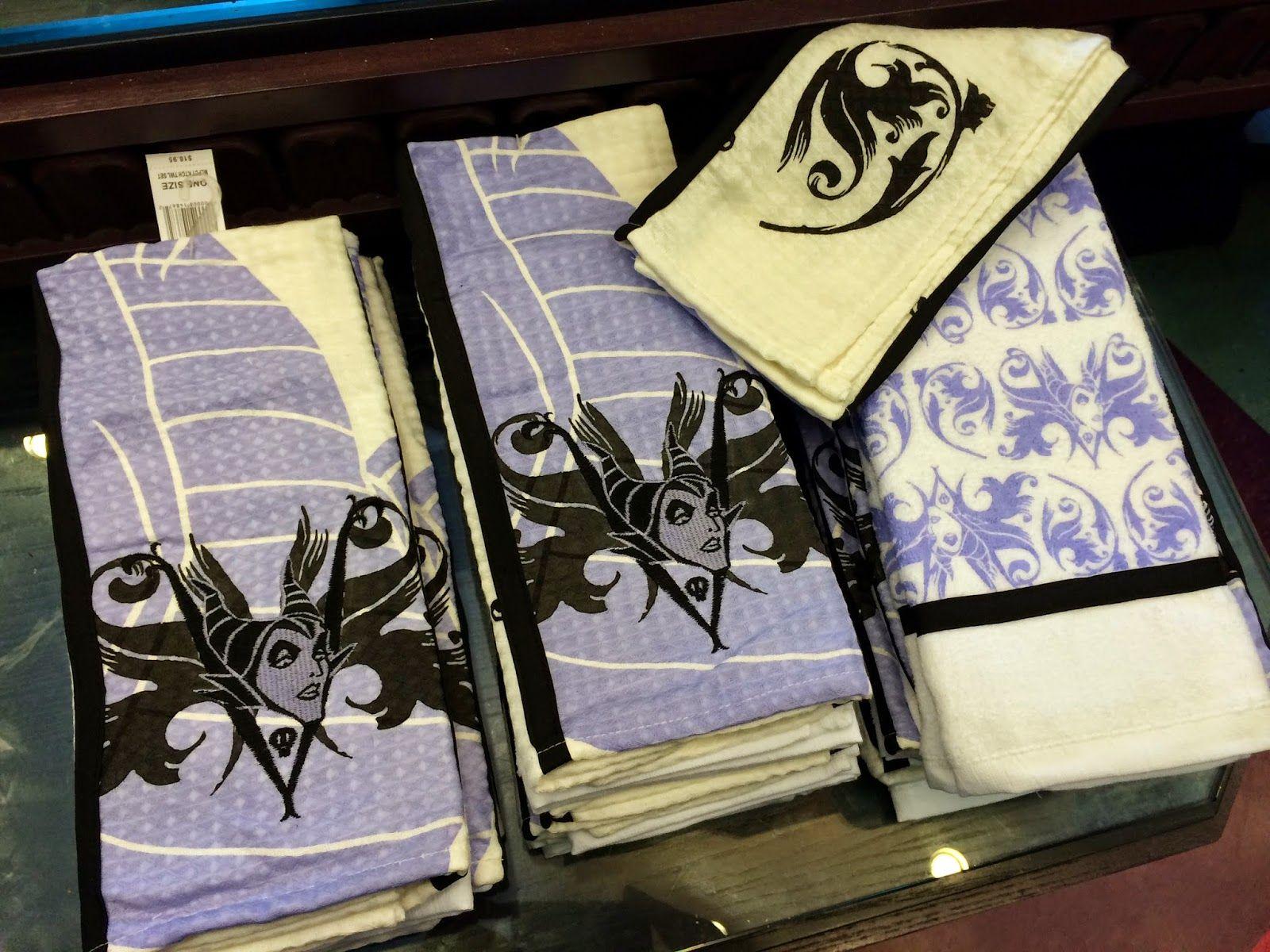 maleficent disney villain kitchen towel set how perfect would