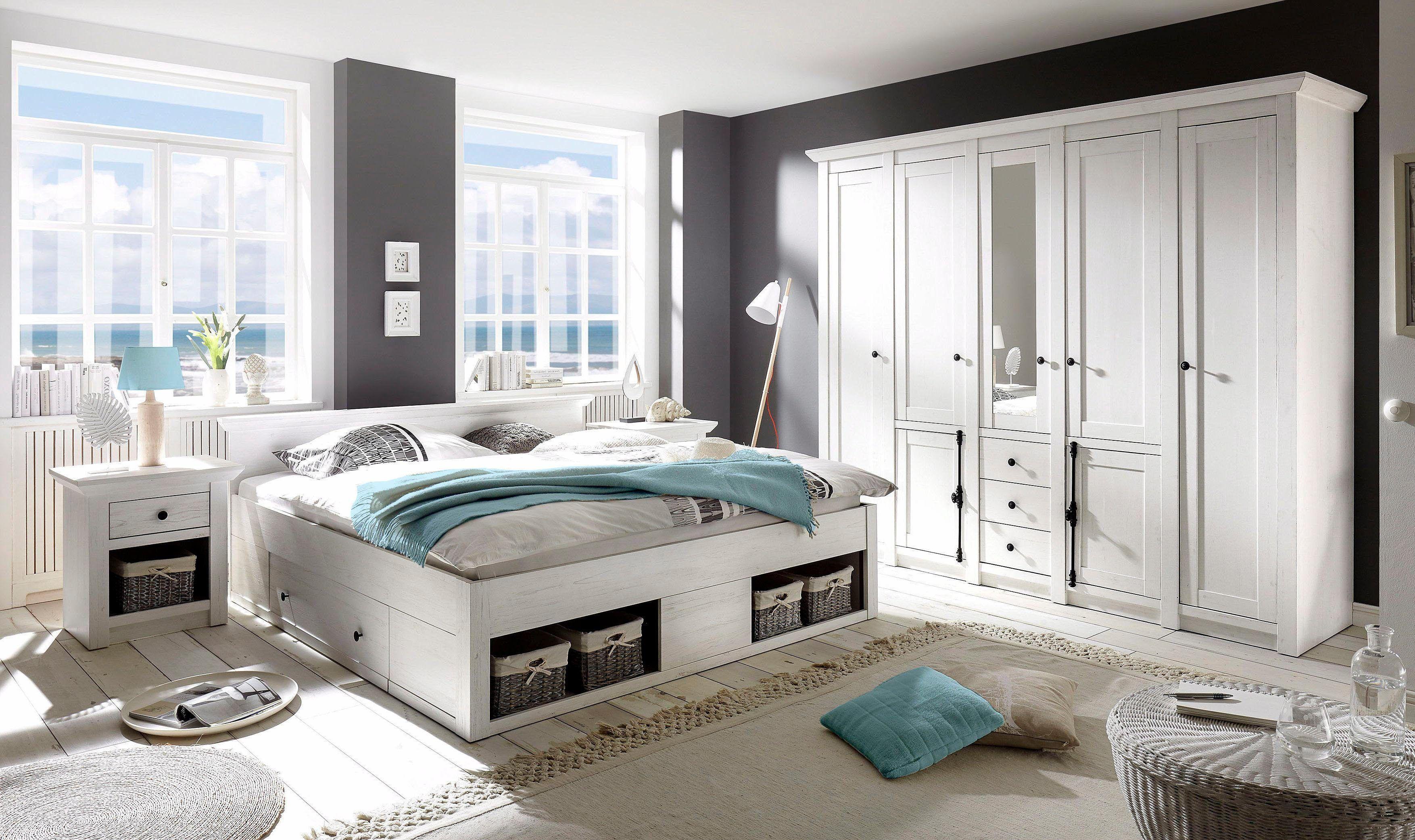 Home Affaire Schlafzimmer Set California Gross Bett 180 Cm 2 Nachttische 5 Trg Kleider Contemporary Home Furniture Apartment Design Master Bedroom Interior